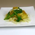 ①ムジネB/カラスミ,イカ,菜の花のパスタ