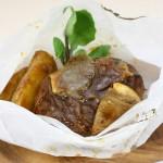 ③乾燥ポルチーニ/煮込みハンバーグ