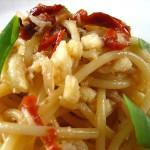 ④バッカラと乾燥トマトののパスタ