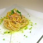 ⑥ムジネP/カラスミ,甘エビの冷製カッペリーニ